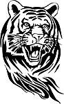 老虎头像简笔画步骤|凶猛的老虎头像简笔画