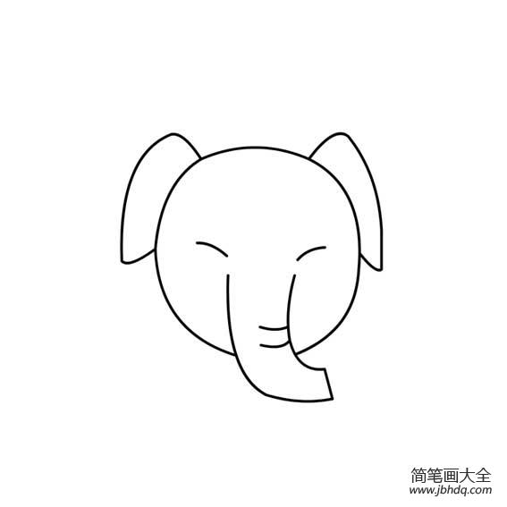 大象头部简笔画