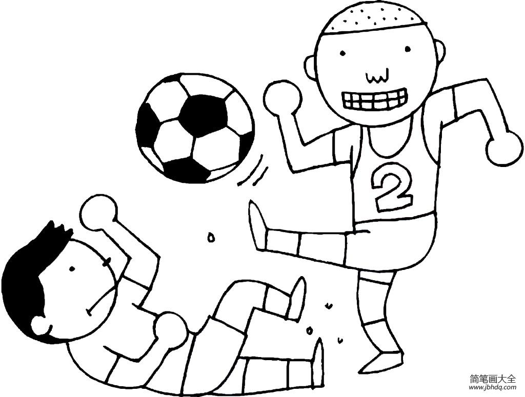 小朋友踢足球简笔画 小男孩踢足球简笔画 小男孩简笔画 百人简笔画