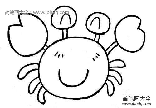 鲨鱼怎么画儿童简笔画 儿童简笔画大鲨鱼螃蟹怎么