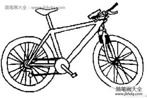 自行车简笔画图片大全|帅气的自行车简笔画