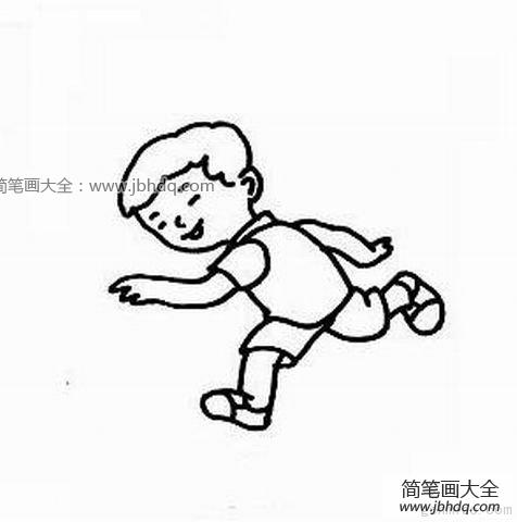 跑步的小人 跑步的小男孩 小男孩简笔画 百人简笔画 儿童简笔画图片