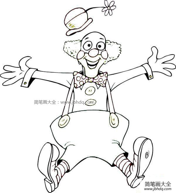 【小丑简笔画图片大全】小丑简笔画图片