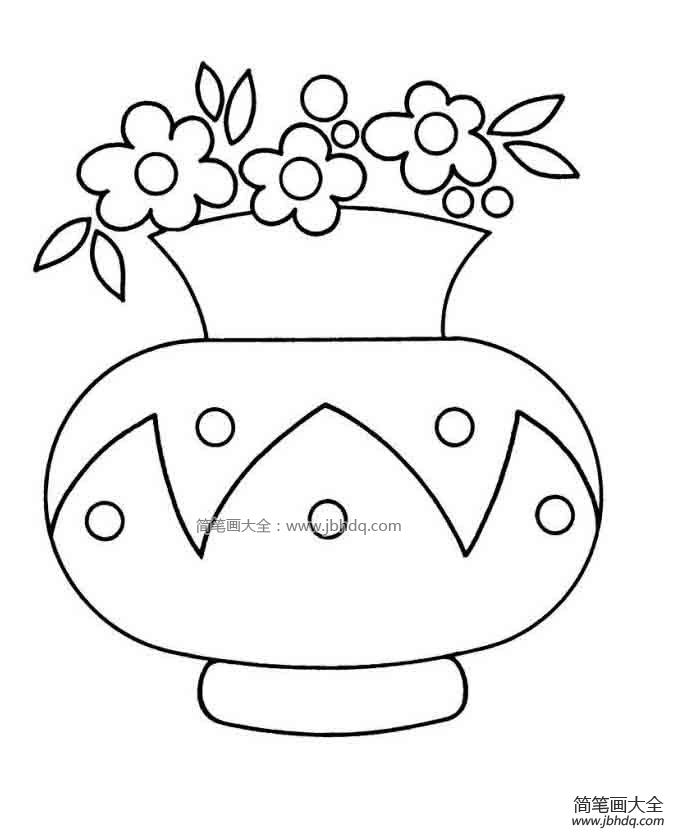 【花瓶简笔画图片大全】花瓶简笔画图片 - 儿童水粉画