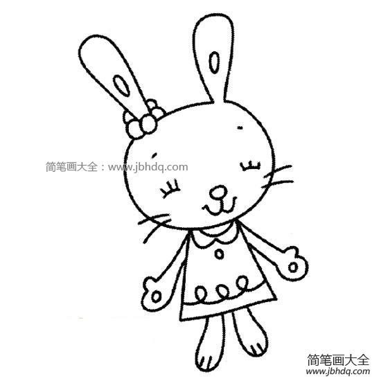 卡通兔子简笔画大全可爱_卡通兔子简笔画大全