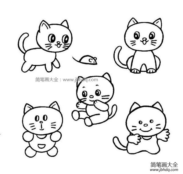 【小猫简笔画图片大全】小猫简笔画图片