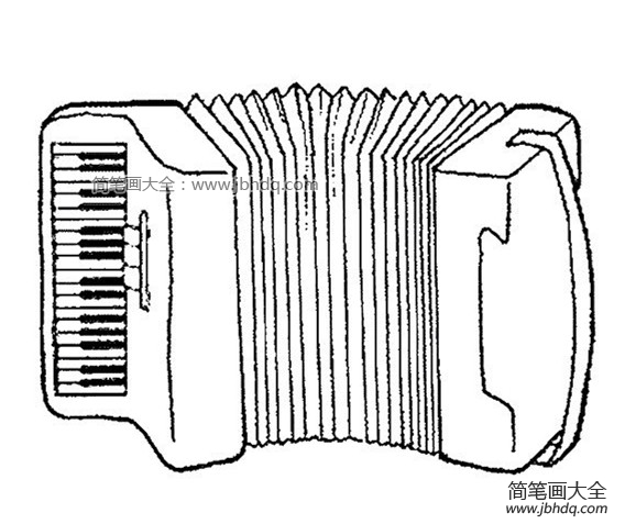 [中秋节图片大全简笔画]手风琴简笔画图片