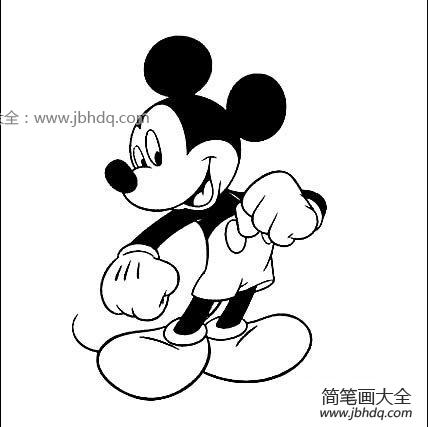 米老鼠简笔画图片大全 米老鼠简笔画图片