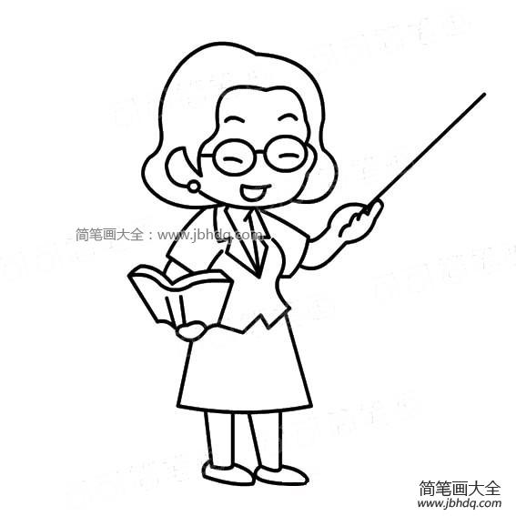 [一组女老师简笔画图片大全]一组女老师简笔画图片