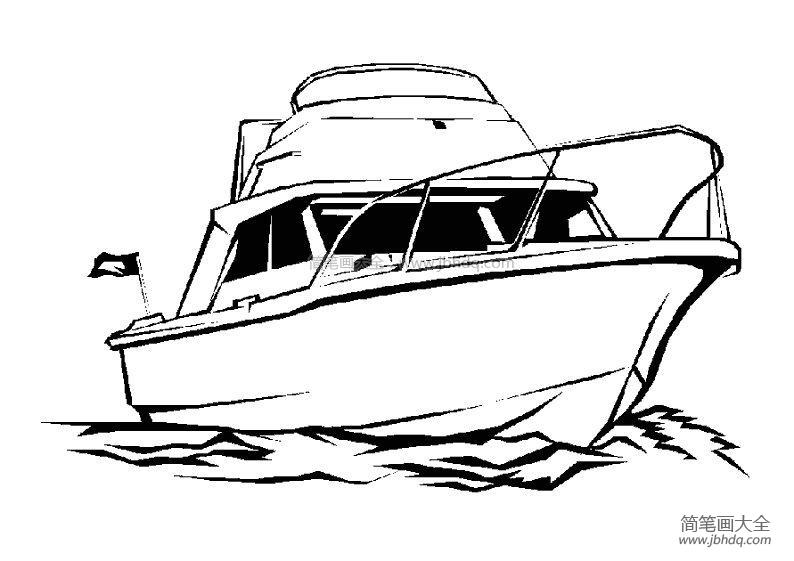 【海里的生物图片简笔画】海里的油轮简笔画图片