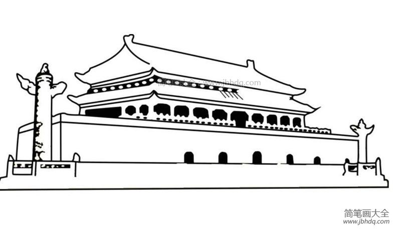 【北京天安门简笔画图片大全】北京天安门简笔画图片