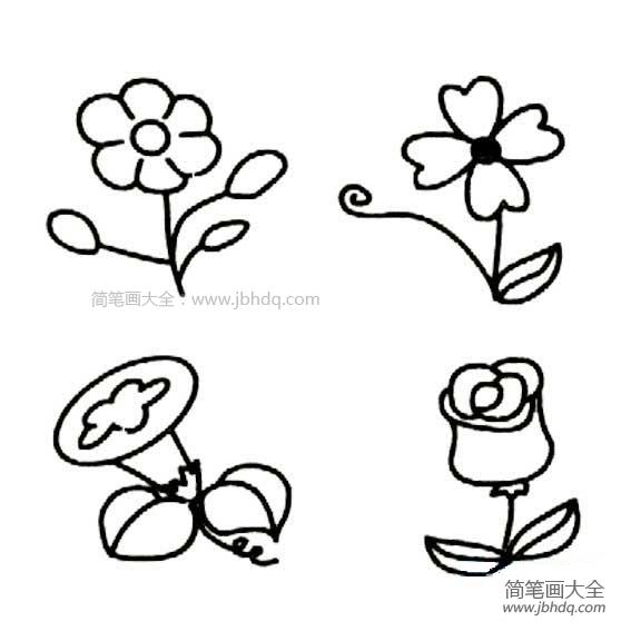 儿童画画学习|儿童画花朵简笔画