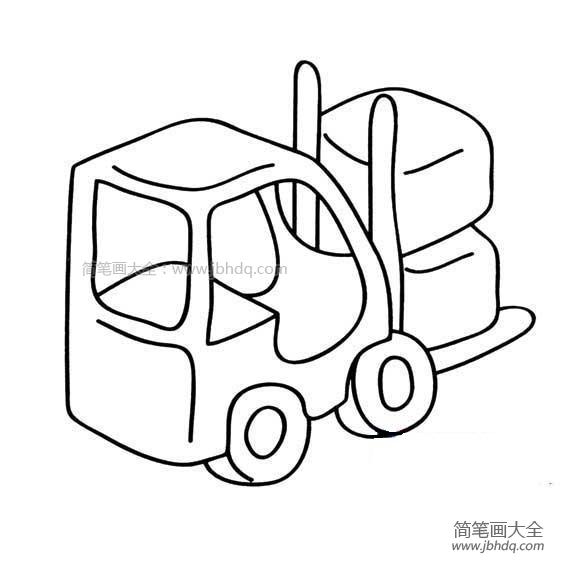 幼儿叉车简笔画