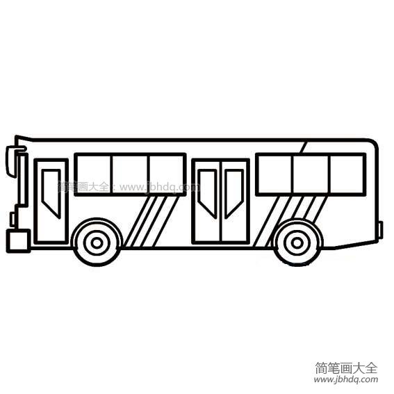 高级公共汽车简笔画