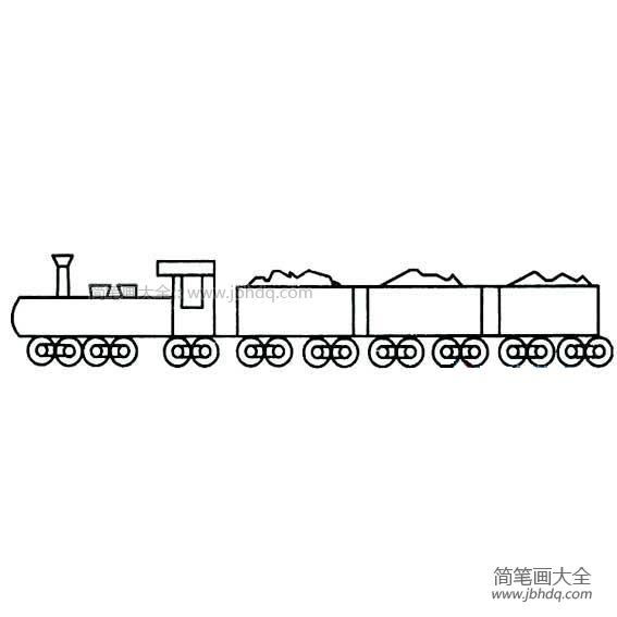 【简笔火车图片大全图片】幼儿火车简笔画图片