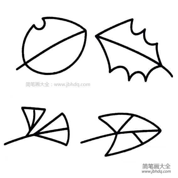 萌萌哒|萌萌的幼儿树叶简笔画