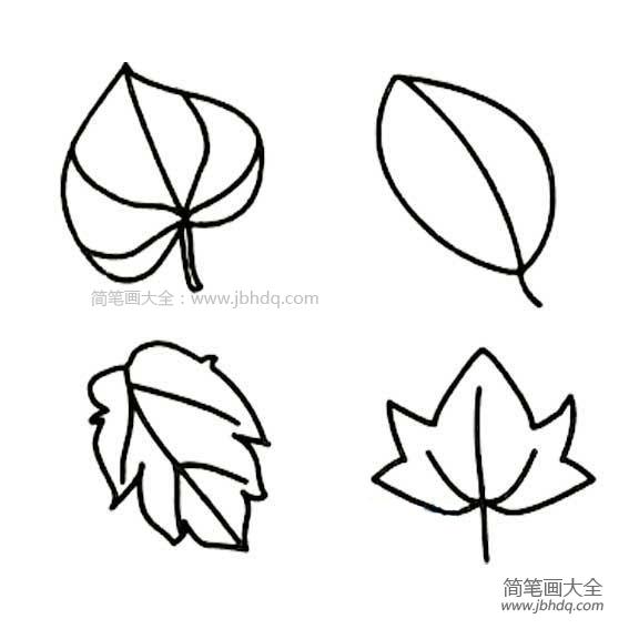 【柳树叶简笔画】儿童树叶简笔画