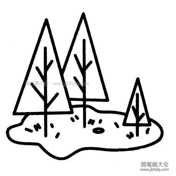 [简笔大树图片大全]幼儿简单大树简笔画