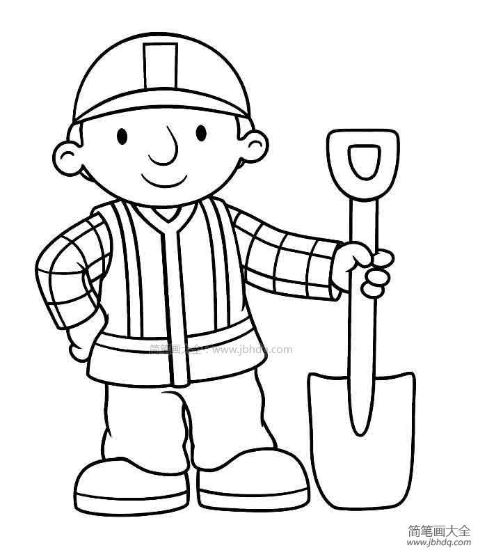 铁路工人简笔画