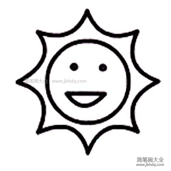 【太阳的画法简笔画图片】太阳的画法简笔画