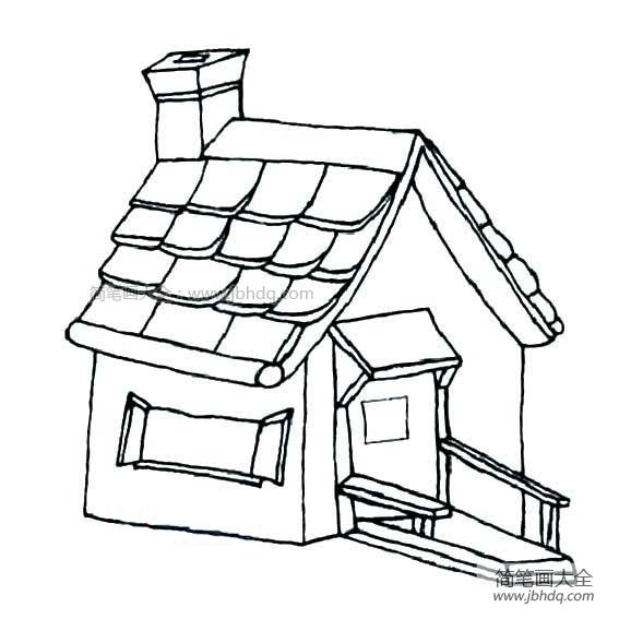 漂亮的房子简笔画图片 建筑简笔画 简笔画大全