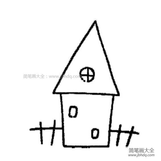 简单的建筑物怎么画|幼儿简单的建筑物简笔画