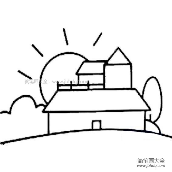 [手帐素材简笔画]房子简笔画素材