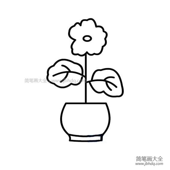 [花盆简笔画 彩色]好看的小花盆简笔画