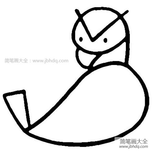 简笔画月饼画法_老鹰的简笔画画法