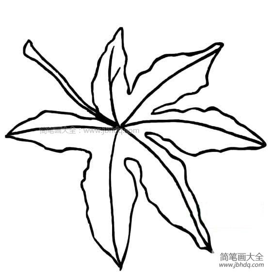 枫树叶子简笔画图片大全 枫树叶子简笔画 树叶简笔画 百人简笔画 儿童