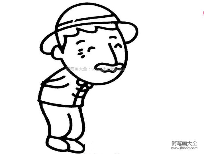毛竹简笔画 老爷爷简笔画 儿童油棒画 百人简笔画 儿童简笔画图片