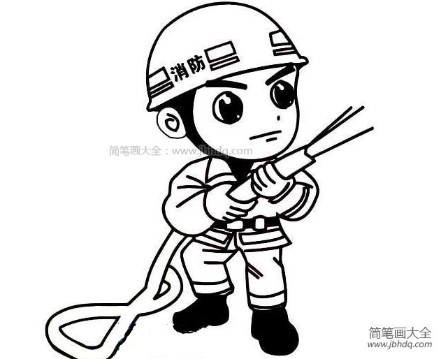 消防员简笔画图片大全 消防员简笔画图片 消防车简笔画 百人简笔画 儿童