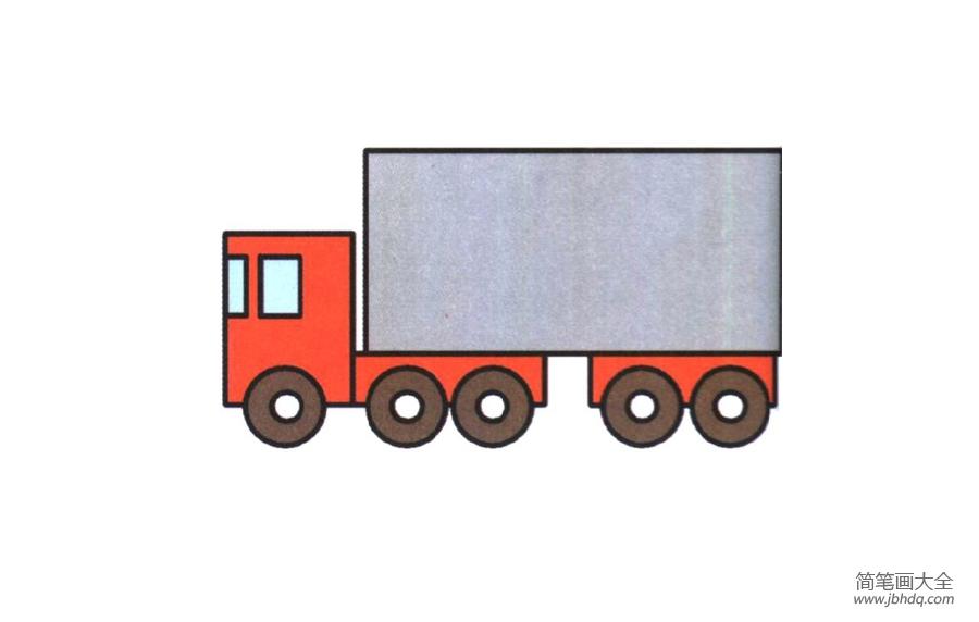 大货车的简笔画画法