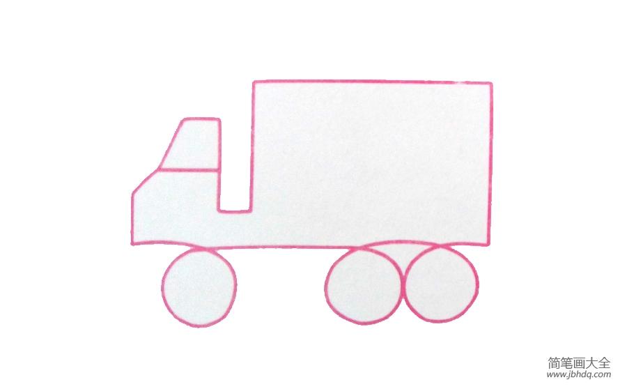 【大货车简笔画图片大全】两张大货车简笔画图片