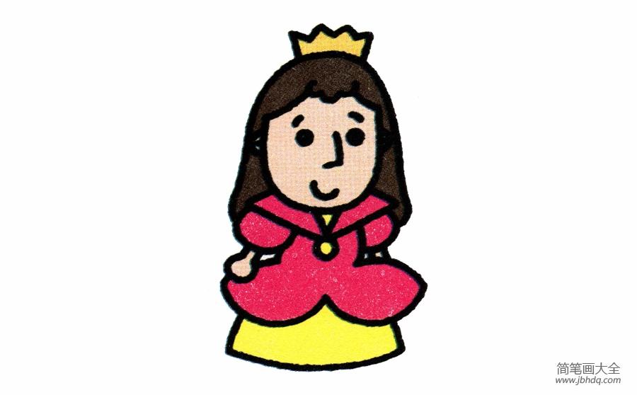 公主的画法简笔画 公主简笔画画法 白雪公主 百人简笔画 儿童简笔画图片