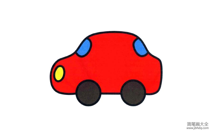 简笔画小汽车的画法_简单简笔画小汽车