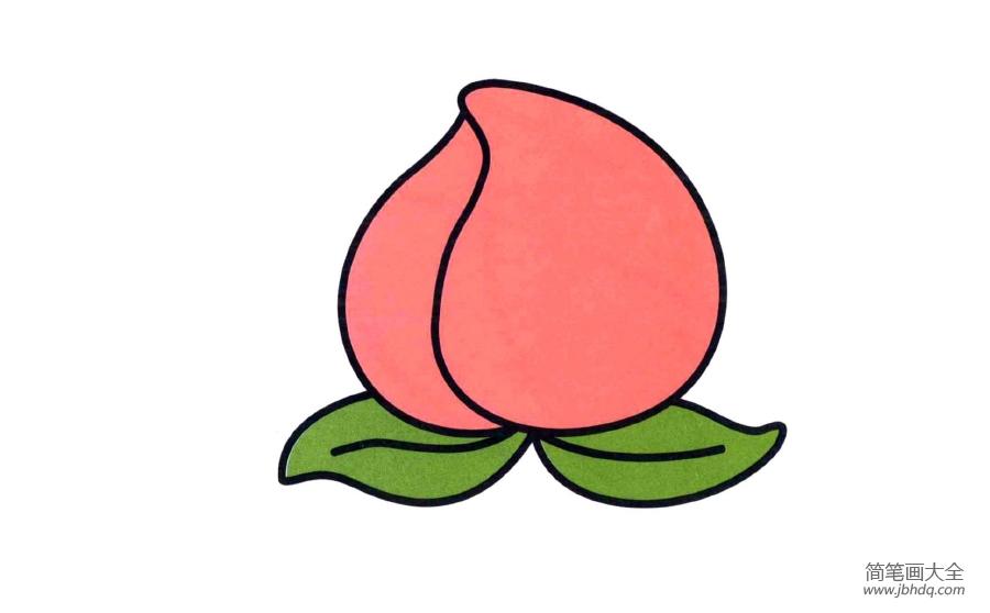 水蜜桃玫瑰简笔画_水蜜桃简笔画图片
