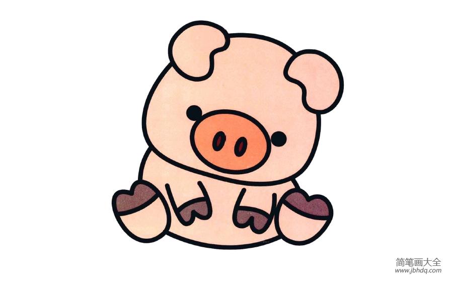 简笔画小猪佩奇|简笔画小猪