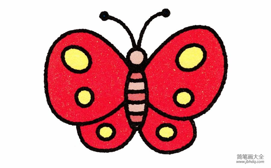 画蝴蝶的简笔画画法 简笔画蝴蝶的画法 儿童油棒画 百人简笔画 儿童简
