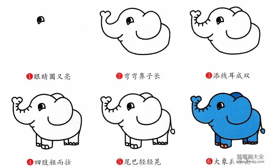 【大象的简笔画 画法】简笔画大象的画法