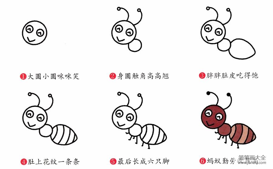 蚂蚁画法简笔画图片|简笔画蚂蚁的画法