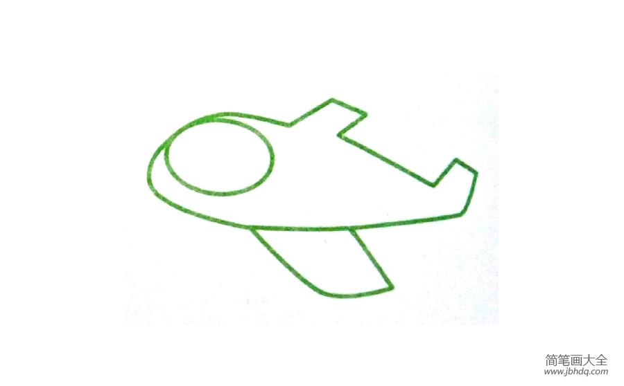 【简笔画飞机的画法】幼儿飞机简笔画画法
