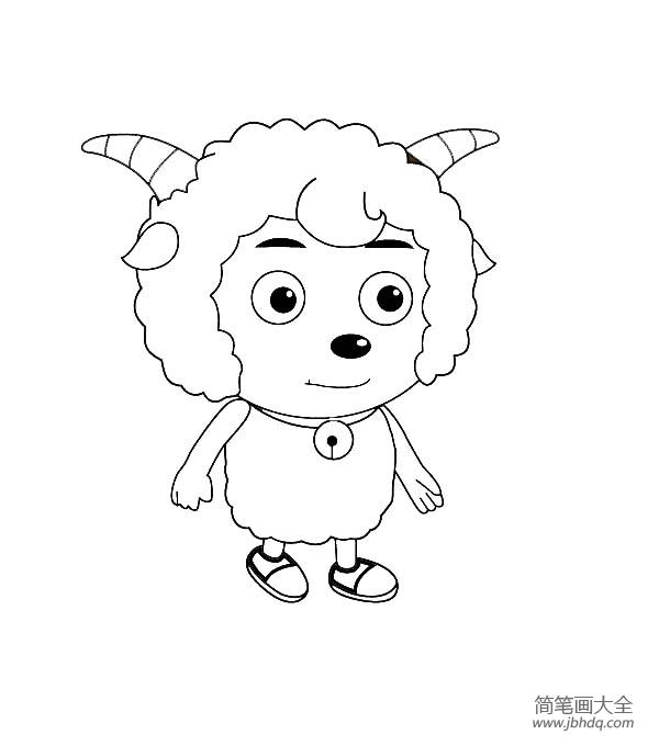 喜羊羊简笔画图片大全 喜羊羊简笔画图片