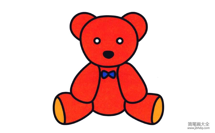 玩具小熊简笔画图片大全_玩具小熊简笔画图片