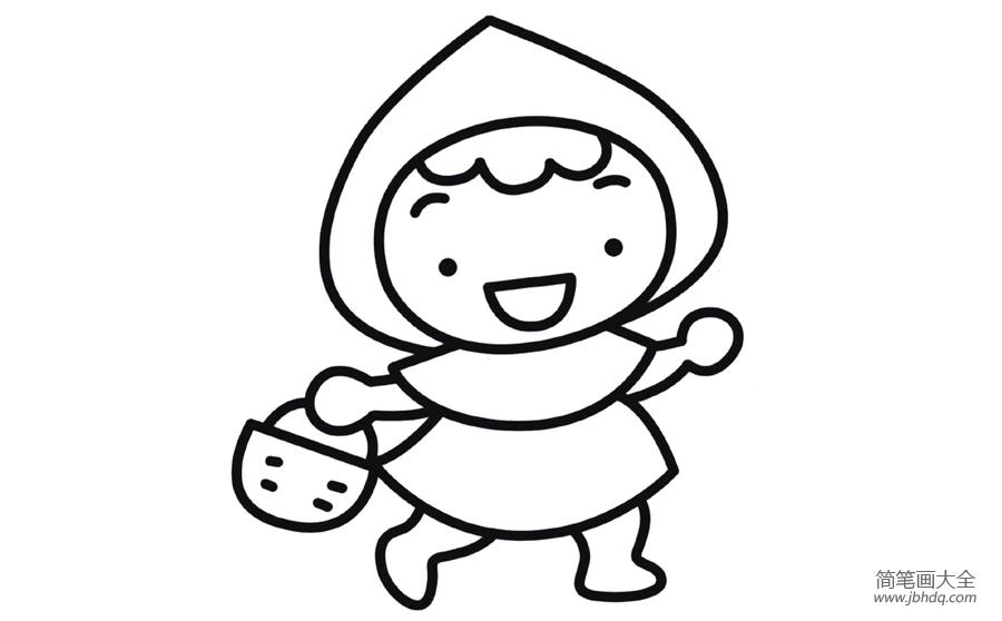 [小红帽简笔画图片大全]小红帽简笔画