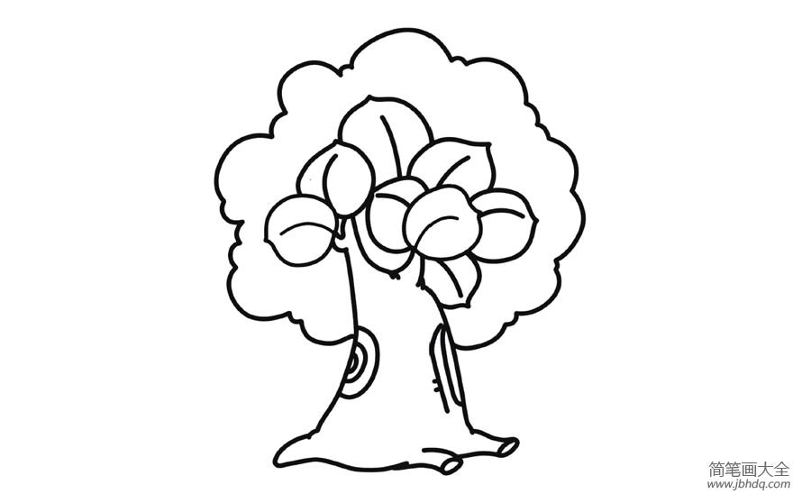 大树简笔画图片带颜色_简笔画图片大树