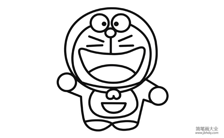 彩色哆啦a梦简笔画画法 怎么画彩色哆啦a梦的简笔画 简笔画大全