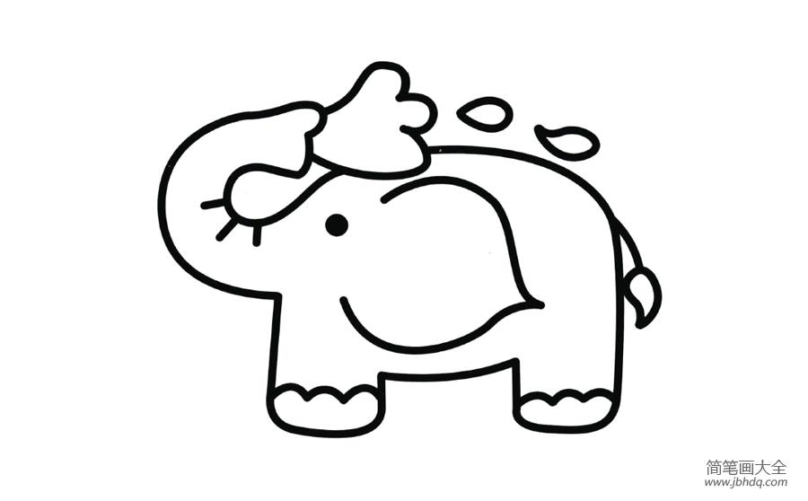 [大象简笔画图片带颜色]幼儿大象简笔画图片