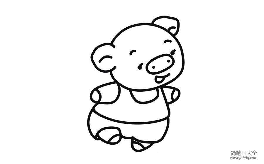 【跑步的小猪简笔画图片大全】跑步的小猪简笔画图片