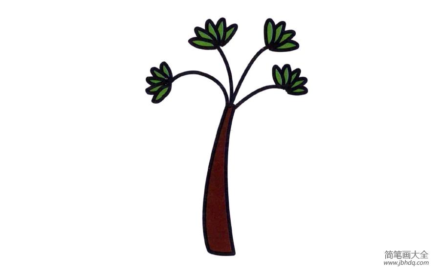小树的简笔画图片大全_幼儿小树简笔画图片